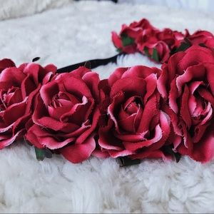 Stretchy Rose Floral Crown